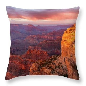 Throw Pillow featuring the photograph Hopi Point Sunset 3 by Arthur Dodd