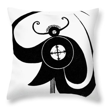 Ancient Indian Symbols Throw Pillows Fine Art America