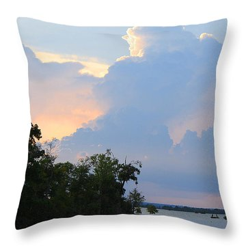 Hoping For An Evening Shower Throw Pillow