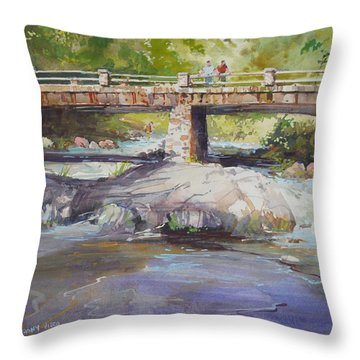 Hopper Bridge Creek Throw Pillow