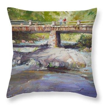 Hopper Bridge Creek Throw Pillow