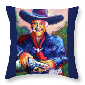 Hoppy's Got A Gun Throw Pillow