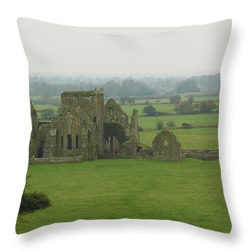 Hore Abbey Throw Pillow by Marie Leslie