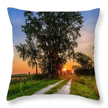 Horicon Trails Throw Pillow