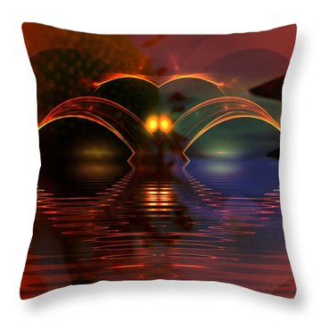 Horizens Throw Pillow