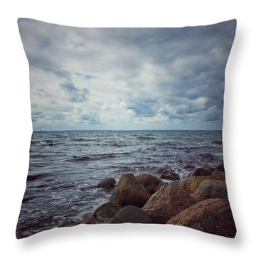 Throw Pillow featuring the photograph Horizon by Karen Stahlros