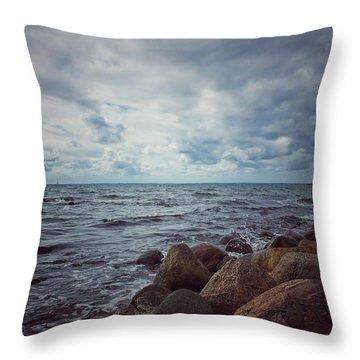 Horizon Throw Pillow by Karen Stahlros