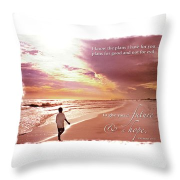 Horizon Of Hope Throw Pillow