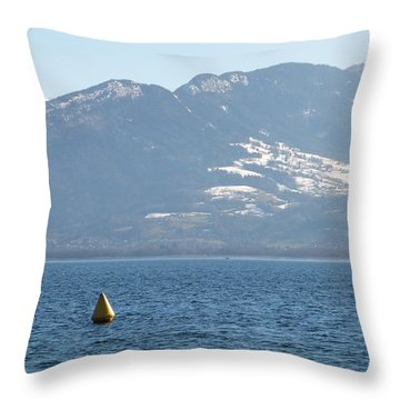 Throw Pillow featuring the photograph Horizon Souleve by Marc Philippe Joly