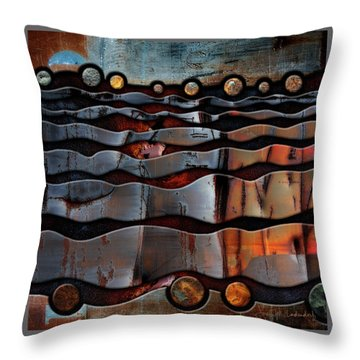 Horizons Throw Pillow by Joan Ladendorf