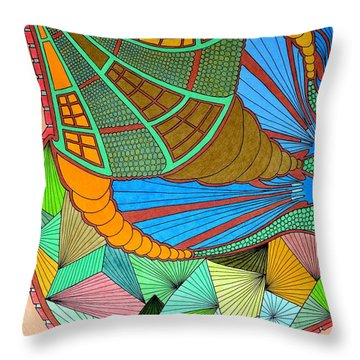 Horn Of What Throw Pillow