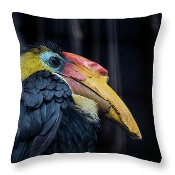 Throw Pillow featuring the photograph Hornbilled Bird by Scott Lyons