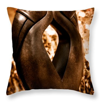 Hornbills Throw Pillow by Venetta Archer