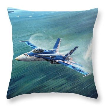 'hornet 20th Anniversary Over Myall Lake Nsw' Throw Pillow