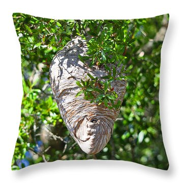 Throw Pillow featuring the photograph Hornets Home by Al Powell Photography USA