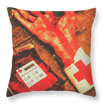 Horror Hospital Scenes Throw Pillow