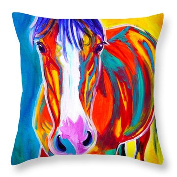 Horse - Pistol Throw Pillow by Alicia VanNoy Call