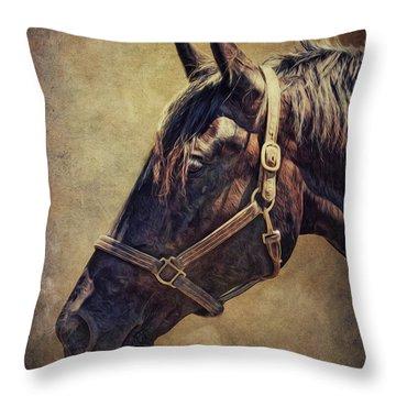 Horse 1 Throw Pillow