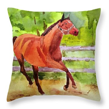 Horse #3 Throw Pillow
