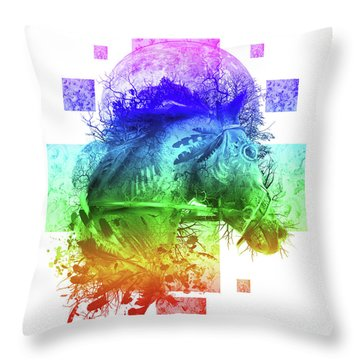 Horse 4 Throw Pillow
