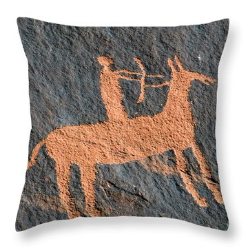 Horse And Arrow Throw Pillow by David Lee Thompson