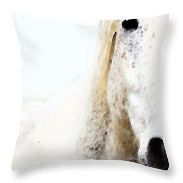 Horse Art - Waiting For You  Throw Pillow