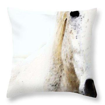 Horse Art - Waiting For You  Throw Pillow