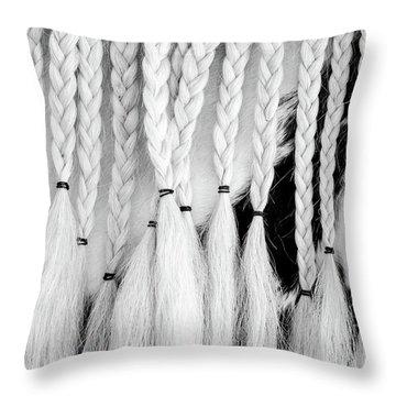 Horse Braids Throw Pillow
