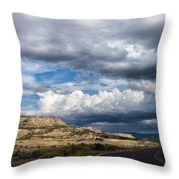 Horse Canyon By De Beque Colorado Throw Pillow