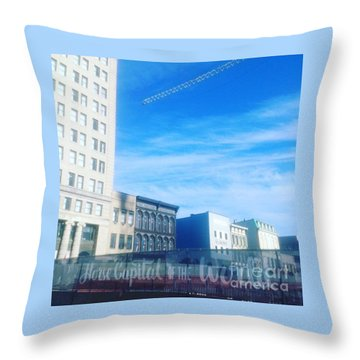 Horse Capital Of The World Throw Pillow
