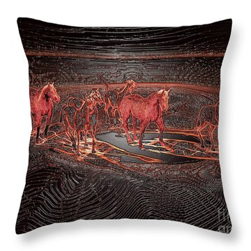 Horse Chestnut Pass Throw Pillow