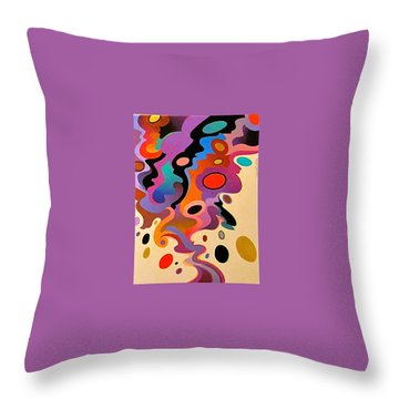 Throw Pillow featuring the painting Horse Color Study by Bob Coonts