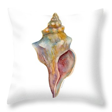 Horse Conch Shell Throw Pillow
