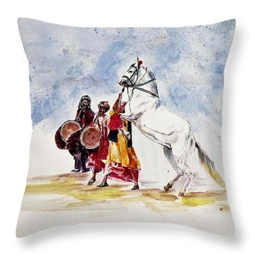 Horse Dance Throw Pillow