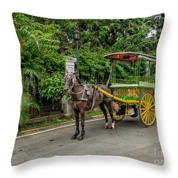 Horse Drawn Throw Pillow