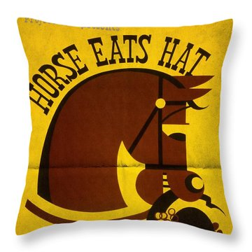Horse Eats Hat - Maxine Elliot's Theatre - Vintage Poster Folded Throw Pillow