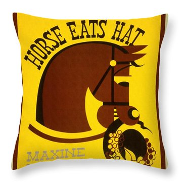 Horse Eats Hat - Maxine Elliot's Theatre - Vintage Poster Restored Throw Pillow