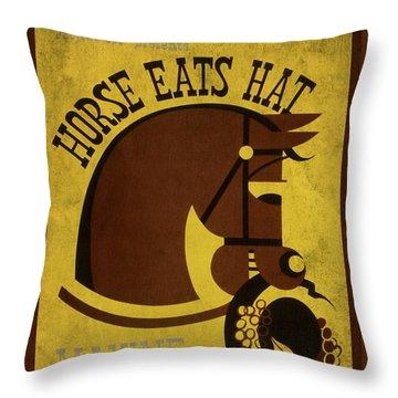 Horse Eats Hat - Maxine Elliot's Theatre - Vintage Poster Vintagelized Throw Pillow