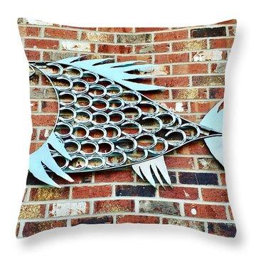Fish Shoe  Throw Pillow