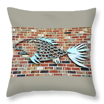 Fish Shoe  Throw Pillow