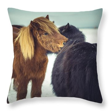 Horse Friends Forever Throw Pillow