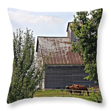Horse Haven Throw Pillow