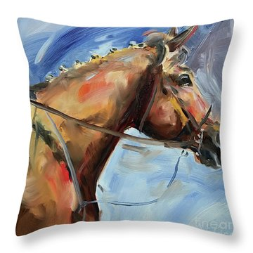 Horse Head Study Throw Pillow