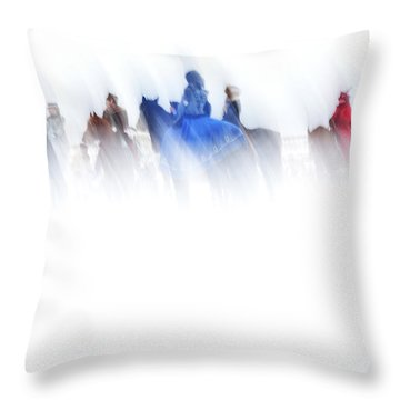 Horse Hunt #8017 Throw Pillow