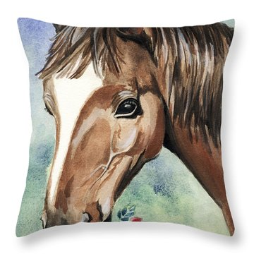 Horse In Love Throw Pillow