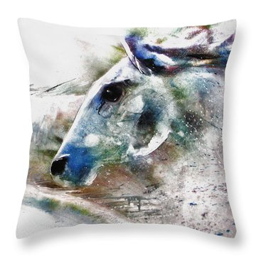 Horse Of Color Throw Pillow