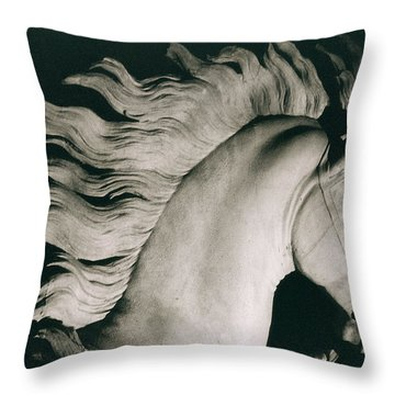 Horse Of Marly Throw Pillow by Coustou