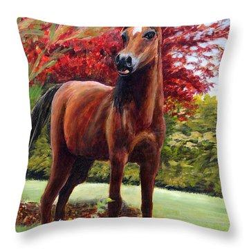 Horse Portrait Throw Pillow by Eileen  Fong