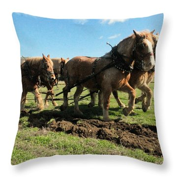 Throw Pillow featuring the photograph Horse Power by Jeff Swan