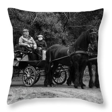 Horse Power Throw Pillow by Roy McPeak